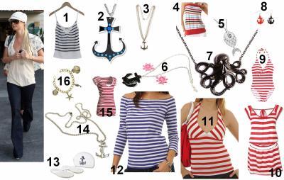Piquons l\u0027idée de Paris Hilton, ajoutons quelques accessoires marins.  Attention, c\u0027est toujours le même refrain, ne pas tomber