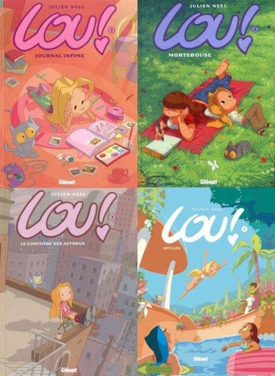 "BD : Les quatres tomes la BD ""Lou!"" de Julien Nell"