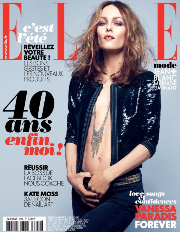 "COUVERTURE - ELLE - | VIDEO. Vanessa Paradis sur TF1 - Sortie du nouvel album de Vanessa Paradis ""Love Songs"""