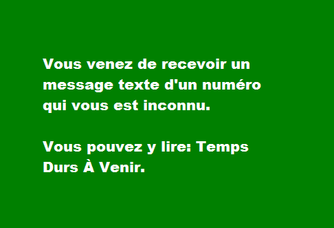 Message Texte