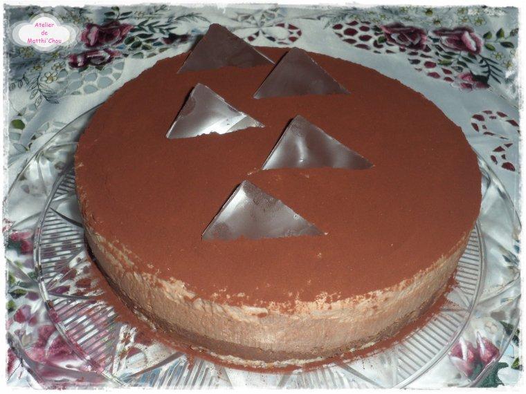 Entremets croustillants aux deux mousses au chocolat