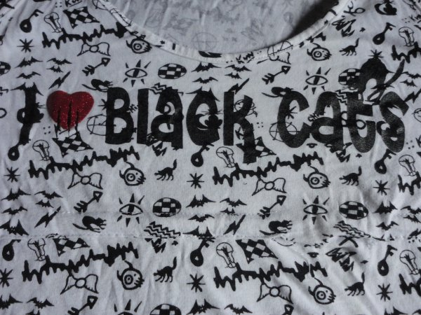 "Débardeur ""I ♥ black cats"""