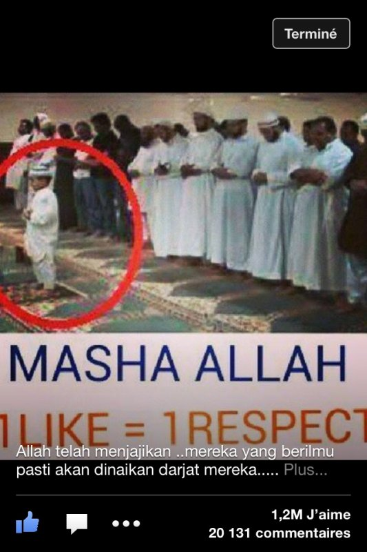 Comme la photo le dit machallah