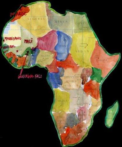 AFRIQUE   .... PEINTURE....  MUSIQUE  ....  METEOROLOGIE