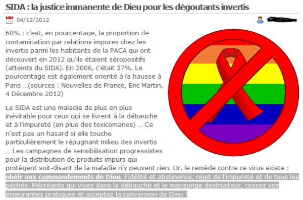 """Dossier : """"Les Intransigeants"""" - Un site irrespectueux des femme et des homosexuelles, mais pour l'amour de dieu !"""