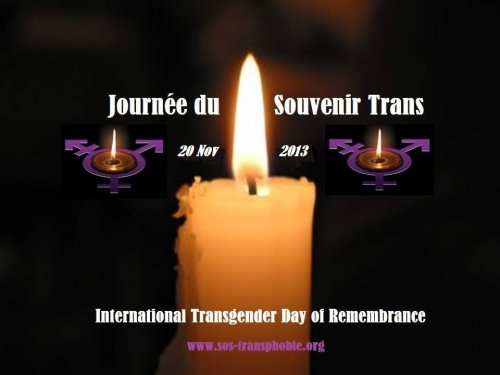 Journée du Souvenir Trans (Transgender Day of Remembrance) Victimes de Transphobie !