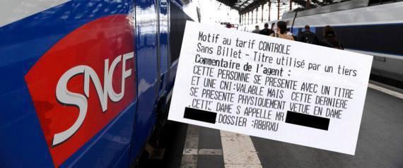 SNCF - une transexuelle reçoit une amende dans un TGV