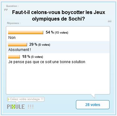 Jeux Olympique de Sotchi : Faut-il boycotter les Jeux olympiques de Sochi ?