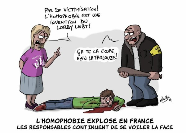 Hausse de 78% des actes à caractère homophobes en France en 2013...