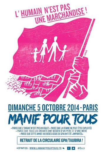 Le retour de la « Manif pour Tous », le 5 Octobre...