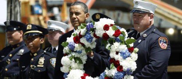 """Obama à Ground Zero : """"Nous n'oublierons jamais"""""""
