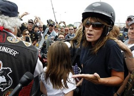 Sarah Palin à moto à Washington