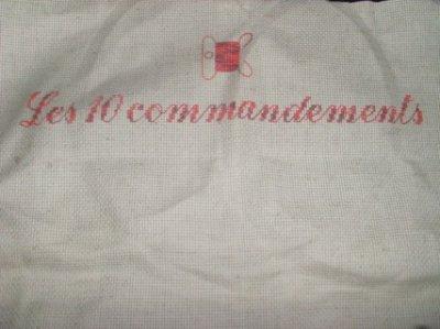 SAL Les 10 commandements de la brodeuse