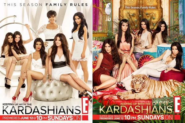 . Des Photos promos de la nouvelle saison de L'incroyable famille Kardahian,diffusée le 12/06 sur E!USA .