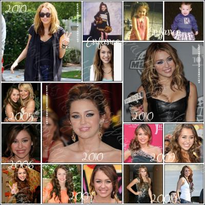 Miley a bien grandille depuis le debut de sa carierre,regarde la differance