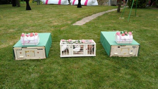Présentation des caisses a pigeons pour des mariages décorer part ma belle mère et de mon beau père