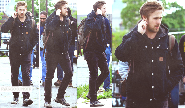13 MAI 2013 :  Ryan Gosling a été vu arrivant sur le set de 'How To Catch A Monster' au Michigan. Top ou Flop ?