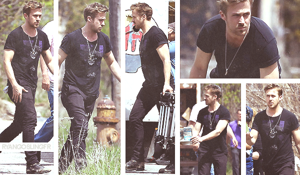 03 MAI 2013 :  Ryan Gosling sur le set de 'How To Catch A Monster' dans le Detroit au Michigan. Top ou Flop ?