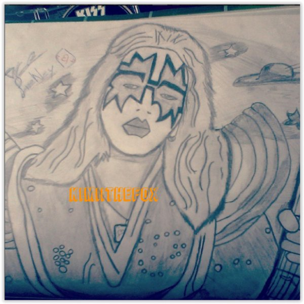 <<DRAWINGS>> Ace Frehley - THE SPACEACE #1