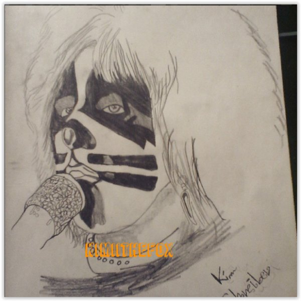 <<DRAWINGS>> Peter Criss - THE CATCRISS #1