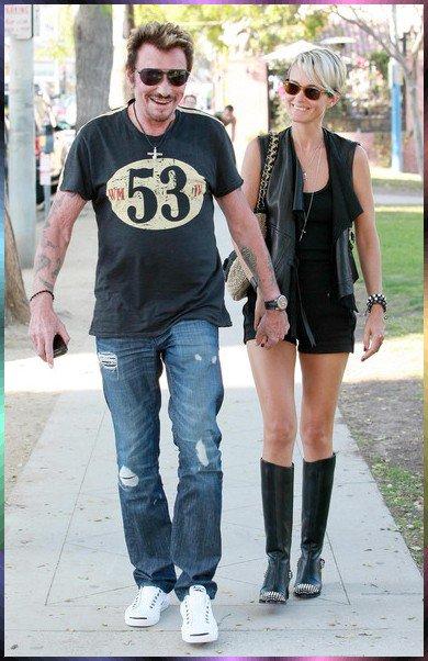 Johnny et sa femme Leaticia