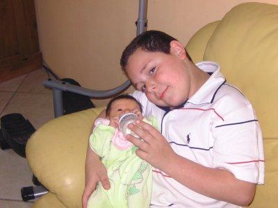 mon petit frere et sa niece