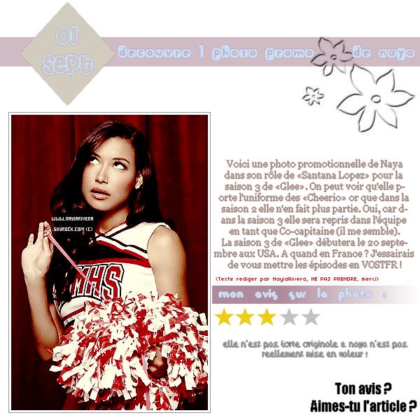 01 Septembre 2011 : Découvre 1 photo promotionnelle de Santana pour la saison 3 de «Glee»