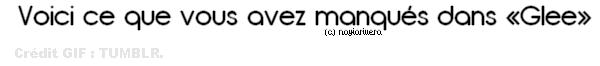 """Petit avant goût de l'épisode """" I kissed a girl """" de Glee :) ♥."""