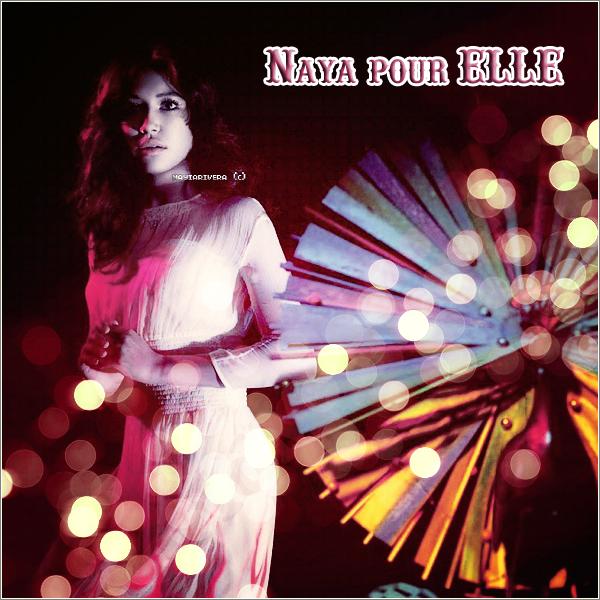 06 Janvier 2012 : Naya pose pour le magazine «Elle».