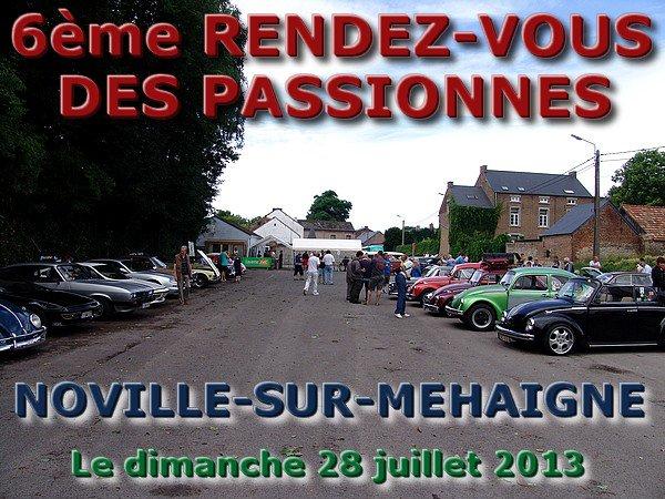 6ème RENDEZ-VOUS DES PASSIONNES - dimanche 28 juillet 2013