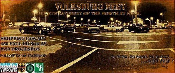 VOLKSBURG MEET - samedi 12 avril à 20h00'