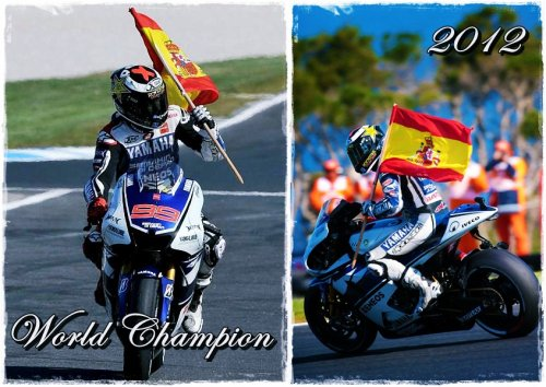 Jorge Lorenzo 2012 World Champion!