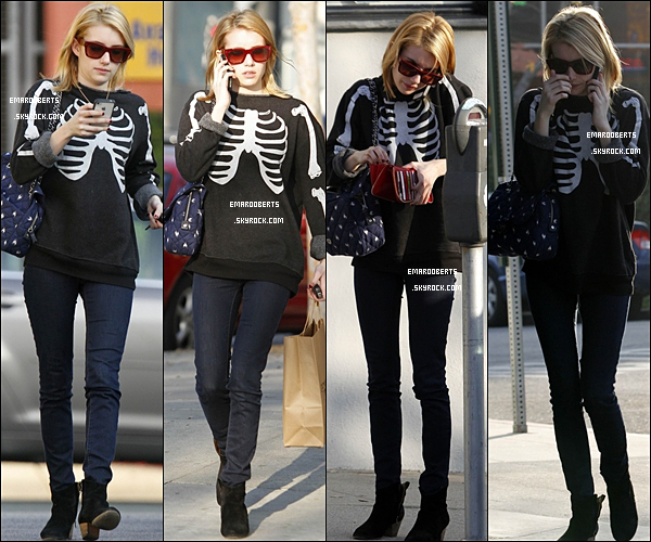 . 30.12.2011 Emma à était aperçue à West Hollywood elle à également fais du shopping ..