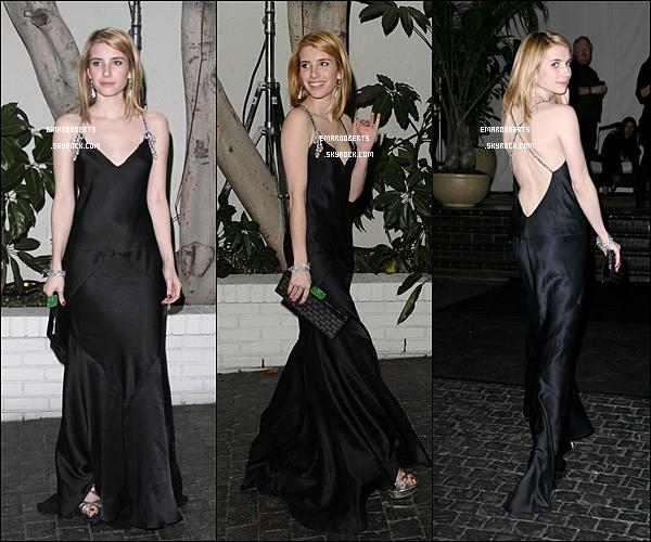 .  13 Janvier - Emma était a la soirer organisée par W Magazine,Puis était de sorti à Los Angeles, elle était à une station de gaz.