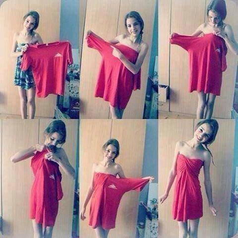 Faire une robe avec un vieux tee shirt sans coup blog de swaggy345 - Vetement deteint que faire ...