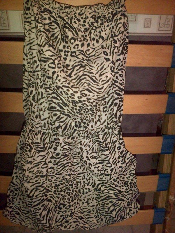 Robe leopard Extensible au niveau de la poitrine
