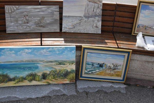 9juillet a mers les bains les peintres sur la plage