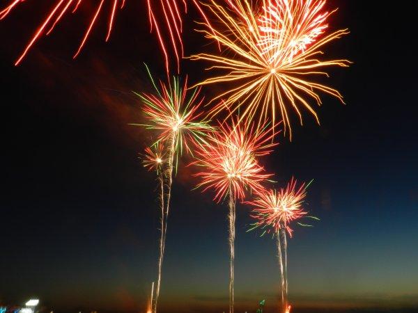 13juillet a mers les bains  le feu d artifice