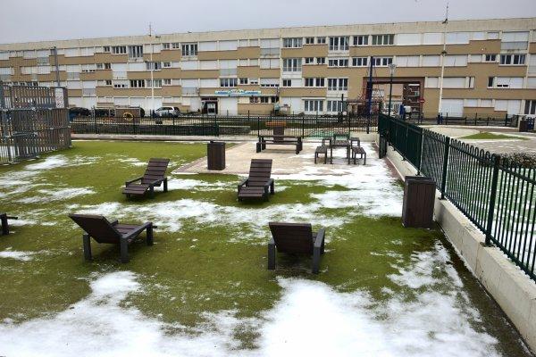 un peu de neige au treportle 1 mars