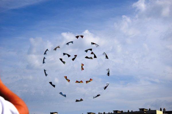 joli mois de septembre dieppe et ces cerfs volant