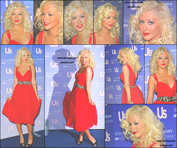 .  22/09/2006 | La belle Christina Maria Aguilera était présente aux US Weekly's Hot Hollywood à Los Angeles    Le rouge sur Christina, c'est juste sublime ! Sa robe est magnifique, tout comme sa mise en beauté qui s'accord parfaitement ! Un énorme top !.