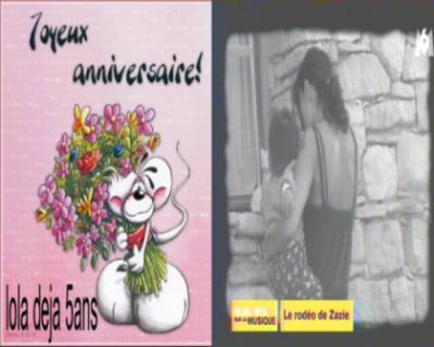 Joyeux Anniversaire A Lola 5ans Aujourd Hui Zebra Le Fada Le