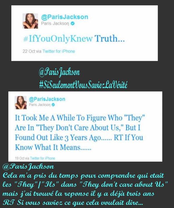 Révélation de la fille de M.J sur son Twitter...
