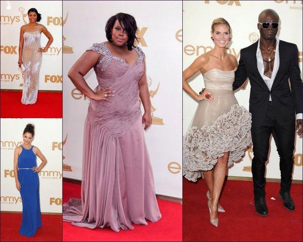 A Los Angeles, il y avait le 63e Prix annuels avec plusieurs stars américaines comme Taraji P. Henson (actrice dans le film The karaté kids) Seal avec sa ravissante femme Heidi Klum Amber Riley (actrice dans la série Glee) Katie Holmes et encore plein d'autre célébrités
