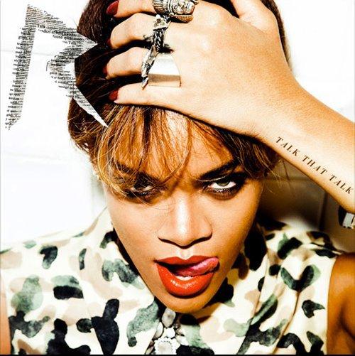"""Voici L'image de la pochette de l'album de Rihanna """"talk that talk"""""""