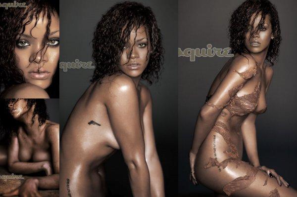 """Rihanna pose pour """"Esquire"""" Pour moi c'est trop sale elle s'exhibe de plus en plus celle la  !!!!"""