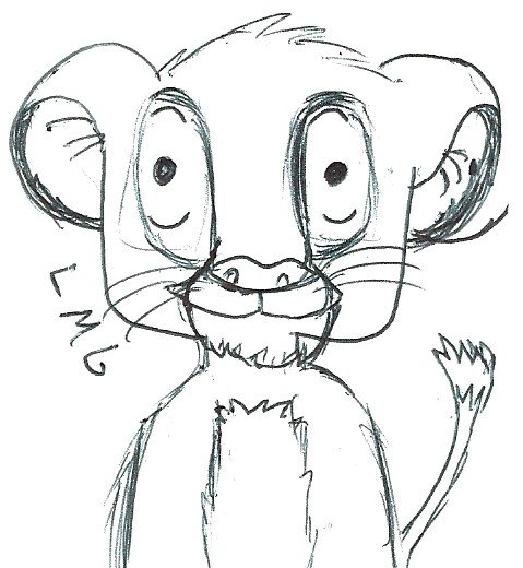 Simba roi lion les dessins de leze - Dessin simba roi lion ...