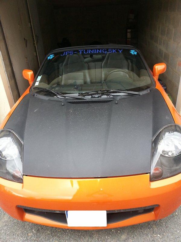 petite aprem a biarritz avec mon new cab orange ainsi que le bandeau a pare brise
