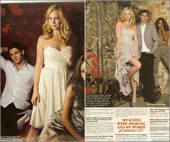 .Scans de « Ok Magazine » avec Candice, Kat et Steven. Candice est superbe comme à son habitude! J'aime et vous? .