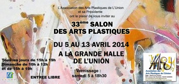 INVITATION VERNISSAGE le 5 AVRIL à 18 HEURE 30